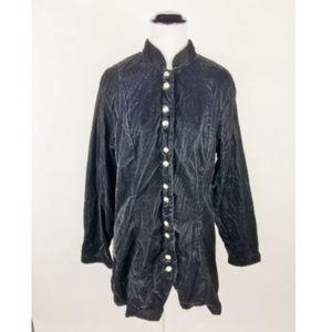 Coldwater Creek Black Velvet Victorian Blazer